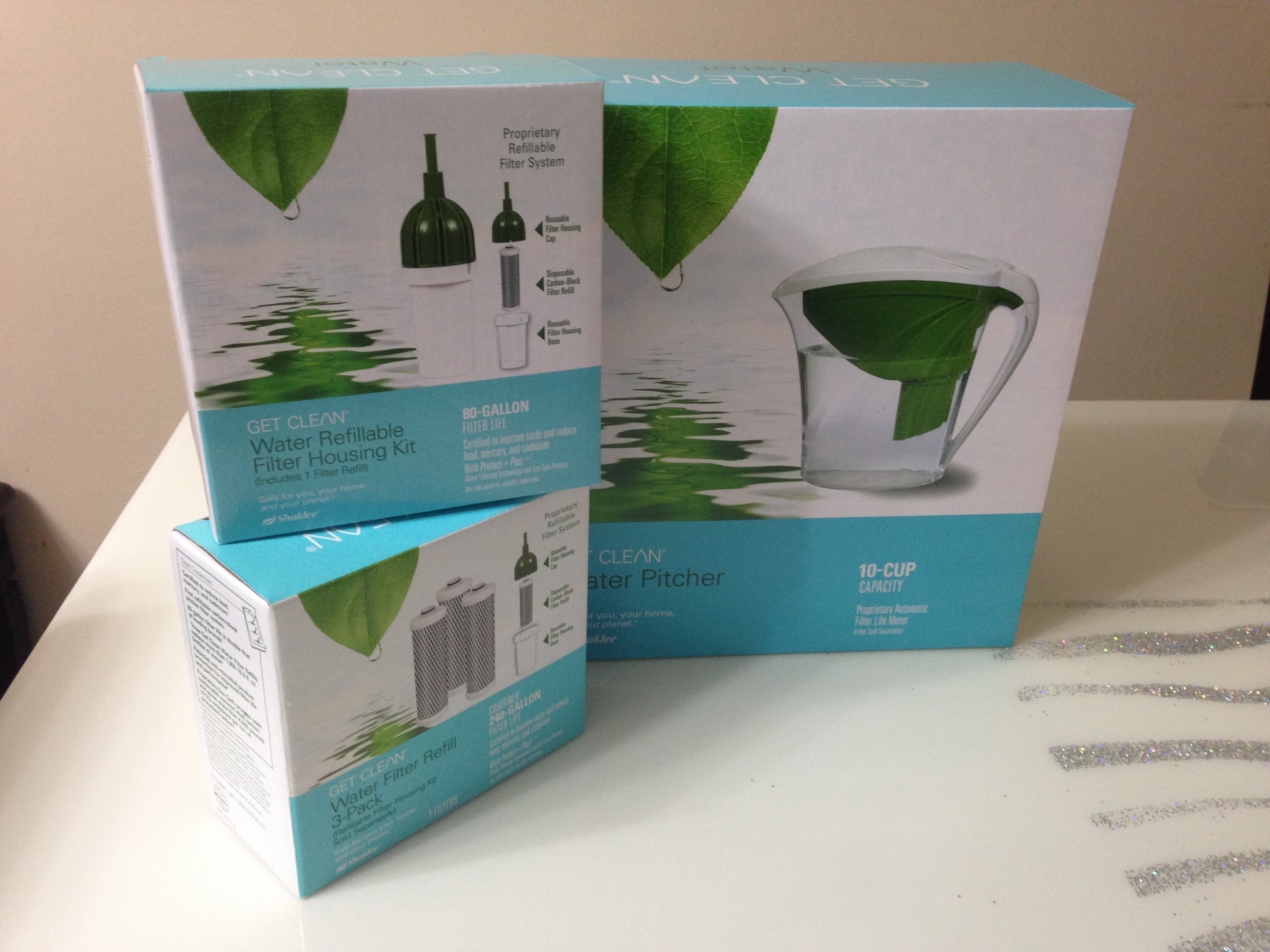 starter set get clean water pitcher